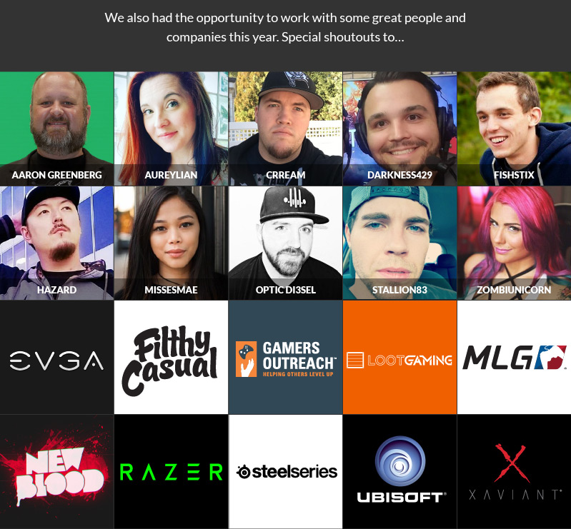 Partner streamers and streaming companies