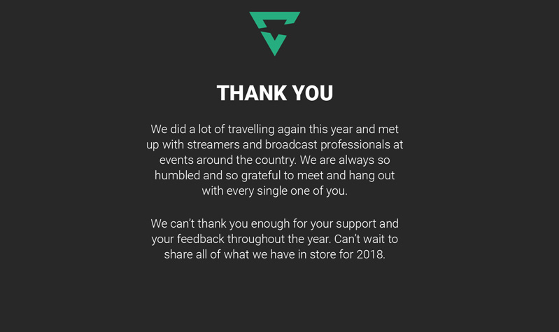 Thank you for your support and feedback this year.