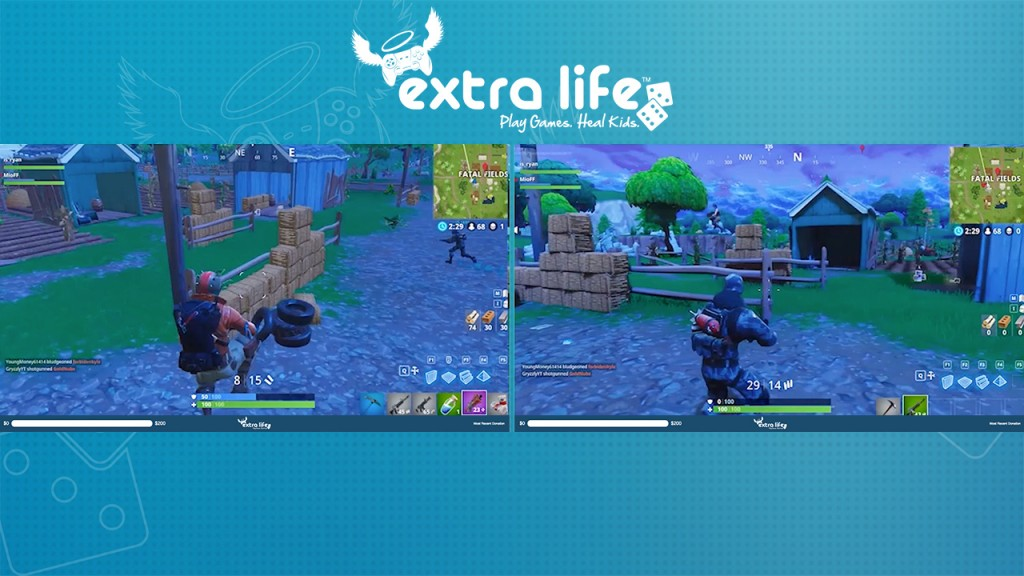 Fortnite charity stream for Extra Life using Lightstream Prism