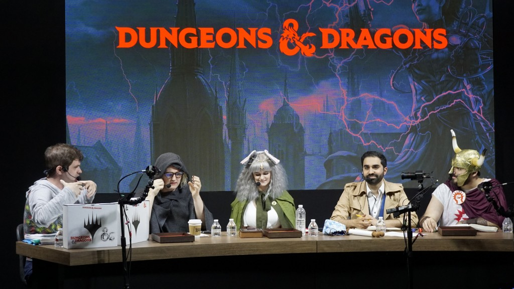 People playing Dungeons & Dragons at Twitchcon