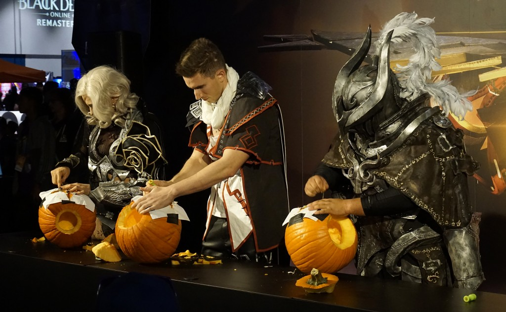 Creatives at work - cosplay and pumpkin carving