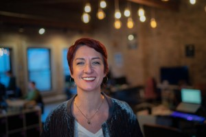 CTO Jenny Farver in the Lightstream Office