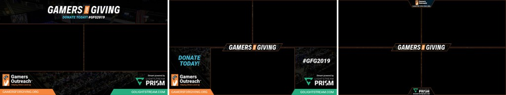 Prism overlays for Gamers for Giving streams